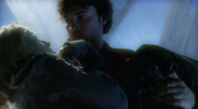 Clark saves Chloe at Fortress of Solitude