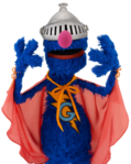 Super Grover Helmet Closed