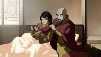 Pema with Tenzin after giving birth
