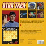 Star Trek Calendar 2013 back cover