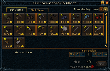Culinaromancer&#39;s Chest stock (Items)