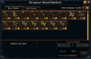 Draynor Seed Market stock