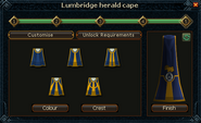 Herald cape trim selection