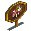 Messy Picnic Cow Mastery Sign-icon