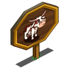 Mini Longhorn Cow Mastery Sign-icon