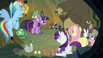 Main ponies no Pinkie with animals S3E3