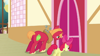 Big McIntosh and Apple Bloom closes the door S3E03