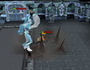 Thok fighting Icefiend