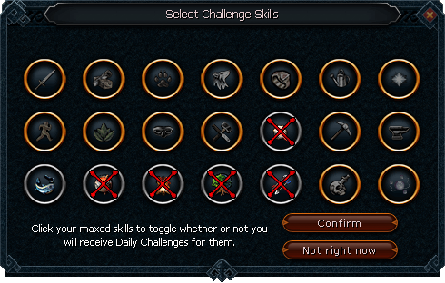 Challenge max toggle