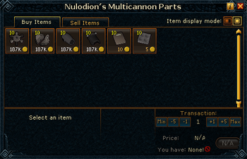 Nulodion's Multicannon Parts stock