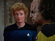 Pulaski counsels Worf