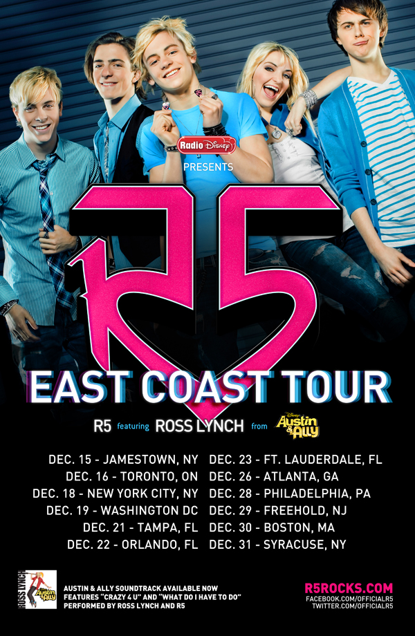 R5 East Coast Tour - R5 Rocks! Wiki