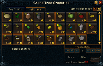 Grand Tree Groceries stock