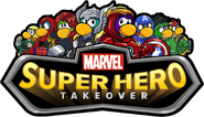 Marvel Super Hero Takeover Party Logo