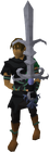 Armadyl godsword equipped old