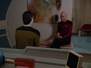 Data and Picard talk legal strategies