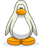 Custom made white penguin