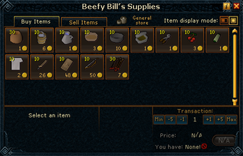 Beefy Bill's Supplies stock