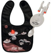 ThinkGeek USS Enterprise K7 bib spoon