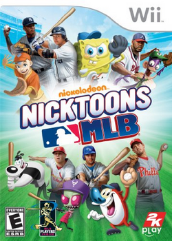 Nicktoons MLB Wii boxart