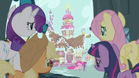 Rarity &amp; Fluttershy checking on Pinkie Pie S3E7