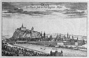 Vischer - Topographia Ducatus Stiria - 110 Graz