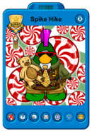 Spike Hike&#39;s Holiday Player Card