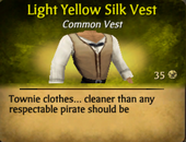 Light yellow silk vest