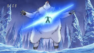 Toriko defeating Silver Grizzly with Knife