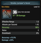 Smoke jumper's sever