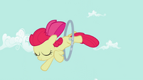 Apple Bloom jumping through the hoop S2E6