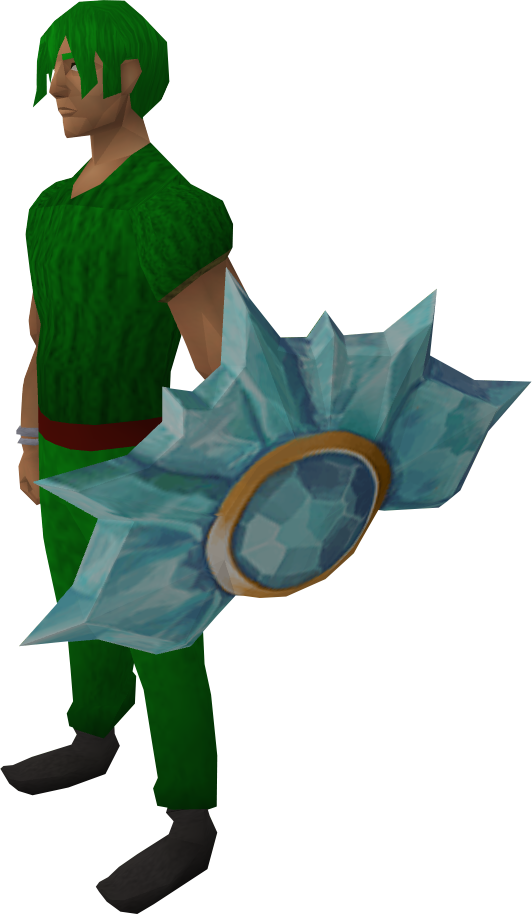 Crystal shield equipped