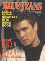 Blue Jeans Magazine 21 September 1985 No. 453 Simon Le Bon Duran Duran wikipedia com