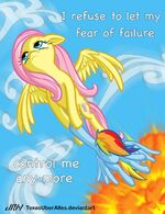 Fluttershy save Rainbow Dash by artist-texasuberalles