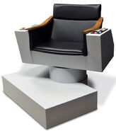 Hammacher Schlemmer Authentic James T Kirk Captains Chair