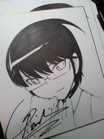 Keima drawn by signature Wakaki for New Years