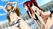 Evergreen and Erza on the contest