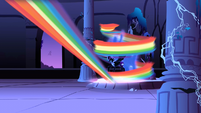 Nightmare Moon getting hit by the magical beam S1E2