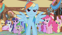 Rainbow Dash defends her friends S1E05