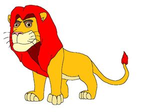 Simba; King of the Pride Lands