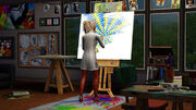 Sims art studio