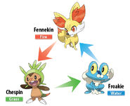 Xy starter types en