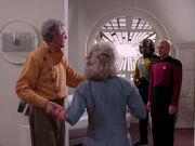 Worf and Picard visit Uxbridge home