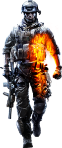 Promotional Soldier BF3 HQ Render