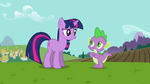 Twilight and Spike &quot;she&#39;s bringing an important visitor&quot; S03E10