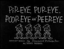 Pip-eye, Pup-eye, Poop-eye and Peep-eye