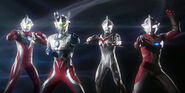 Zero,Mebius,Max &amp; Nexus in Ultraman Retsuden