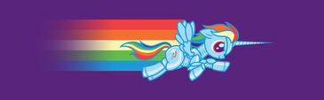 Rainbow Dash Robot Unicorn Atk by purplemerkle