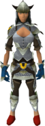 Dyed silver d'hide blessed set equipped
