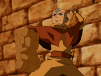 Aang&#39;s earth arm
